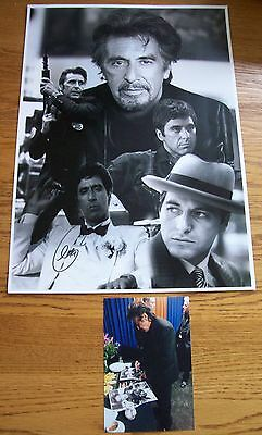 £295 • Buy Al Pacino 12x16 Signed (At A Private Signing) Montage Photograph AFTAL/UACC RD