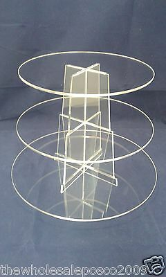 £13.46 • Buy Cup Cake Display Stand 3 Tier Clear Acrylic Perspex Plastic