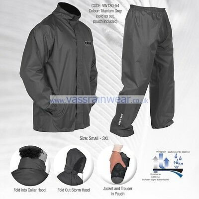 Vass-Tex Lightweight Waterproof & Breathable Packaway Jacket & Trouser Set VASS • 44.95£