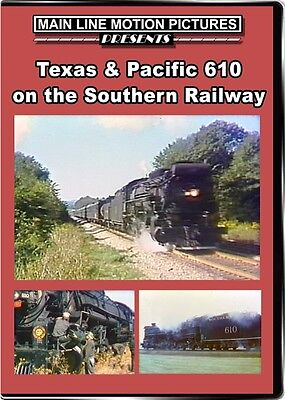 £16.28 • Buy Texas & Pacific 610 On The Southern Railway DVD T&P 2-10-4 Train Video