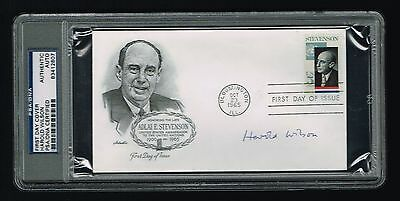 £113.39 • Buy Harold Wilson Signed Autograph UK Prime Minister FDC First Day Cover PSA Slabbed