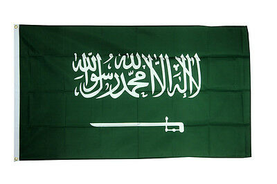 £4.99 • Buy Saudi Arabia Large Flag 5 X 3 FT - 100% Polyester With Eyelets Country