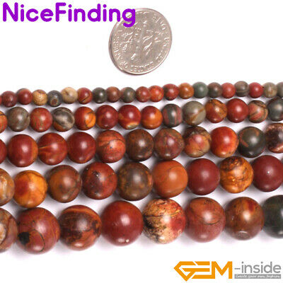£3.32 • Buy Natural Picasso Jasper Gemstone Beads For Jewellery Making Free Shipping 15  DIY