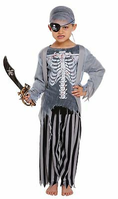 Childrens Scary Zombie Pirate Halloween Fancy Dress Costume • 9.95£