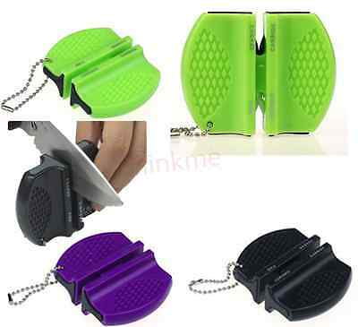 $1.50 • Buy 1pc Mini Ceramic Tungsten Steel Camp Pocket Knife Sharpener Stone Tool IL