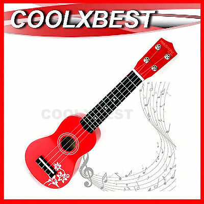 AU28.99 • Buy New 21  Holysmoke Red Aloha Ukulele 12 Frets 4 Strings Ukelele Children Guitar