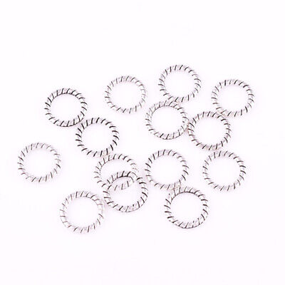 $ CDN5.27 • Buy Metal Tibetan Silver Round Close Ring Charm Spacer Beads Jewelry Finding 4/6/8mm