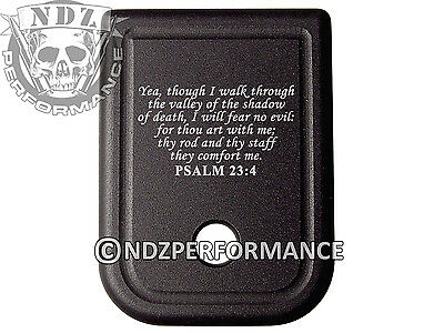 $19.99 • Buy For Glock Magazine Plate 17 19 22 23 26 27 34 35 9mm 40cal Bible Psalm 23:4