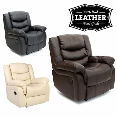 £269.99 • Buy Seattle Leather Recliner Armchair Sofa Home Lounge Chair Reclining Gaming