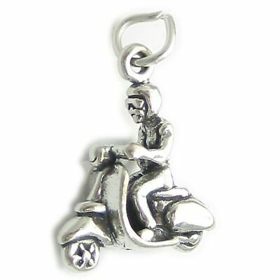 £11.99 • Buy Girl On A Scooter Moped Sterling Silver Charm .925 X 1 Scooters Charms