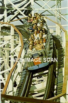 $7.64 • Buy 1969 Wood Roller Coaster Kennywood Amusement Park Photo Art Deco Cars Americana