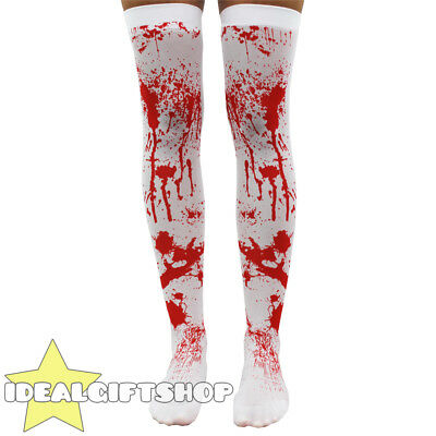 $ CDN6.91 • Buy Blood Stained Bloody Stockings Ladies Halloween Fancy Dress Costume Accessories