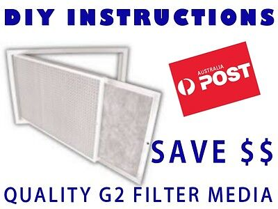 AU27.99 • Buy Air Conditioner Return Air Filter Media Material 500x900mm G2 - Universal