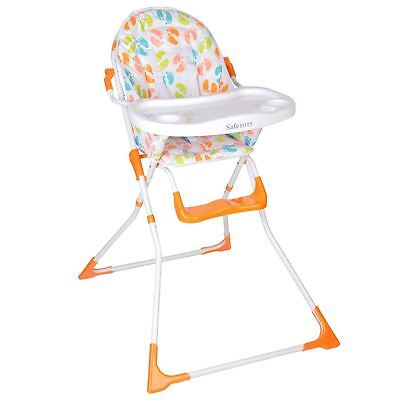 Safetots Bright Feet Compact Foldable High Chair Toddler Feeding Highchair • 39.90£