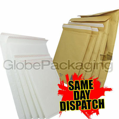 £9.25 • Buy Gold & White Quality Padded Bubble Envelopes Bags *all Sizes/qty's* - Top Prices