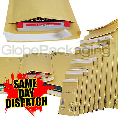 £6.65 • Buy Gold Padded Bubble Envelopes Bags - Quality Fsc Approved  *all Sizes/qty's*