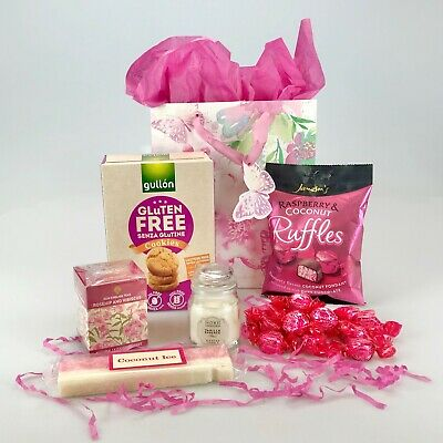 Deluxe Gift Bag Hamper Chocolate Candle Tea Sweet Gluten Free & Vegan Well Xmas  • 19.99£
