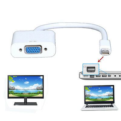 $6.01 • Buy VGA Video Converter Adapter Cable For Apple Macbook Pro Air IMac To TV Projector