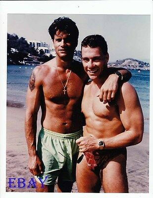 Lorenzo Lamas Barechested, Claude Van Damme RARE Photo • 34.08£