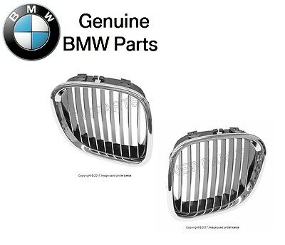 $199.72 • Buy For BMW E36 Z3 M Coupe Roadster Chrome Kidney Grille Set Front L+R Genuine New