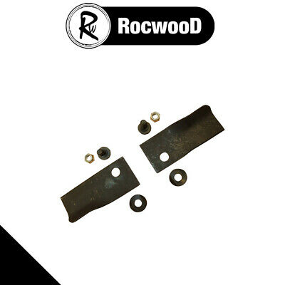 Blade And Bolt Set Of 2 Fits Some 18  20  Rover Lawnmower • 7.37£