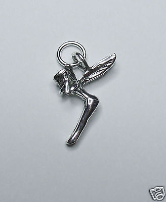 £7.75 • Buy Fairy Sprite Tinkerbell 3d Charm Sterling Silver
