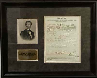 $895 • Buy Civil War Solider Discharge Certificate For Battle Wounds