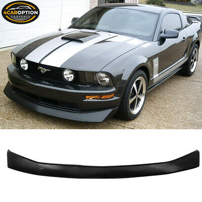 $130.95 • Buy Fits 05-09 Ford Mustang V6 CV Unpainted Black PU Front Bumper Lip