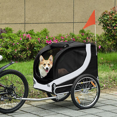 £85.99 • Buy Pet Bike Trailer Dog Cat Large Bicycle Jogger Jogging Cycle Carrier Two Wheels