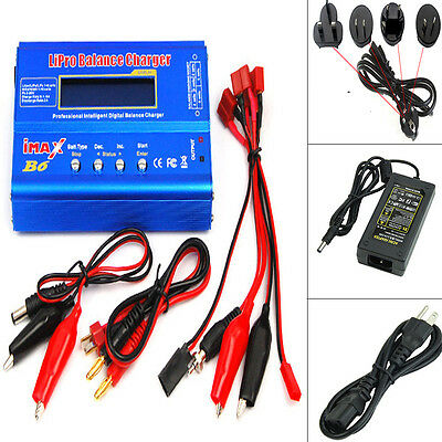AU45.99 • Buy IMax B6 80W Lipo Nimh Nicd RC Battery Balance Charger Discharger + AC Adapter