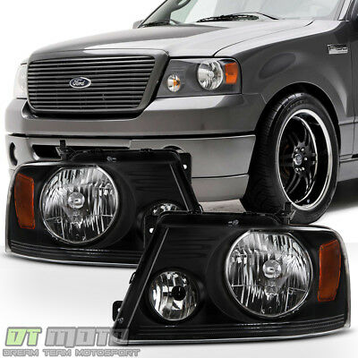 $75.99 • Buy [Harley-Davidson Style] 2004-2008 Ford F150 06-08 Mark LT Headlights Headlamps