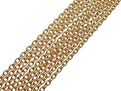 5 Metres Of Gold Plated Chain 4mm X 3mm Jewellery Findings Beading Necklace K12 • 2.69£