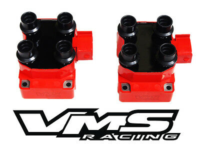 2 Vms Racing High Output Ignition Dis Coil Pack 96-98 Ford Mustang Gt Cobra 4.6 • 94.95$