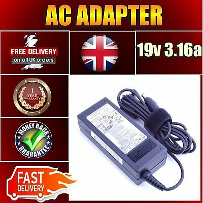 Samsung Laptop AC Adapter Battery Charger N193 V85 N17908 19V 3.16A 60W • 17.25£