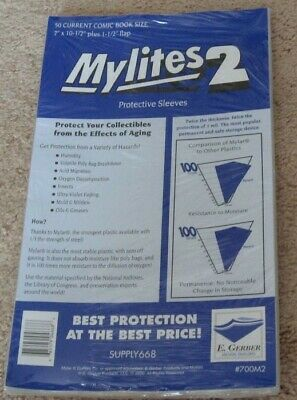 $29.99 • Buy 100 E Gerber Mylites 2 Mil Mylar Current / Modern Comic Book Bags Sleeves