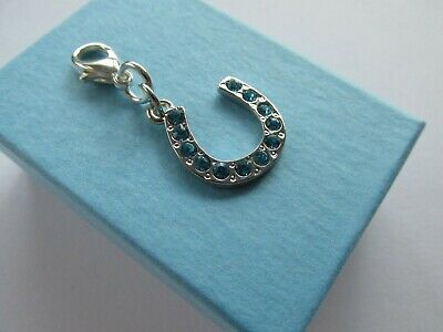 Wedding Gift For The Bride Something Blue Lucky Crystal Horseshoe Charm - Boxed • 4.99£