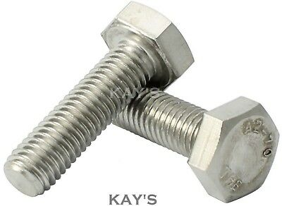 £2.40 • Buy Unc Set Screws A2 Stainless Steel Fully Threaded  Bolts 1/4 5/16 3/8 1/2 , Kays