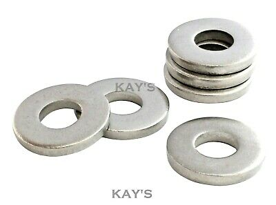 £3.90 • Buy Extra Thick Washers Flat Heavy Spacers A2 Stainless Steel Metric Sizes M3 To M20