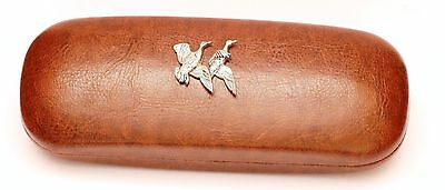 Mallard Ducks Leather Effect PU Glasses Case Shooting Hunting Gift Present • 14.99£