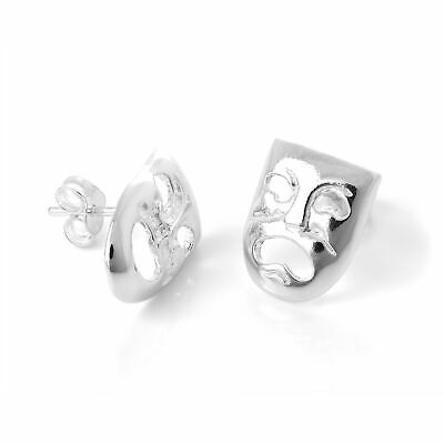 £9.35 • Buy 925 Sterling Silver Tragedy & Comedy Masks Stud Earrings Actor Theatre