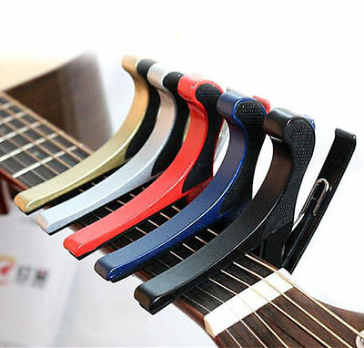 $ CDN9.38 • Buy Quick Change Folk Acoustic Electric Tune Trigger Guitar Capo Key Clamp 5 Colors