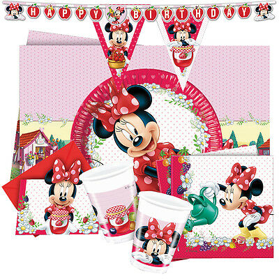 Minnie Mouse JAM Packed With Love - Disney (Tableware/Cups/Plates/Napkins/Party) • 2.49£