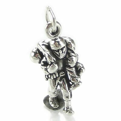 Wounded Soldier Carried By Hero Sterling Silver Charm .925 X 1 Battle SSLP4625 • 11.50£