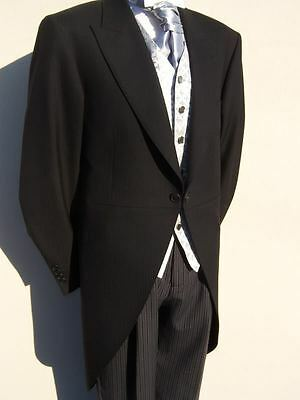 £25 • Buy PAGE BOYS BLACK TAILCOAT WEDDING MORNING SUIT TAILS JACKET AGE 2 4 6 8 10 12 Yr