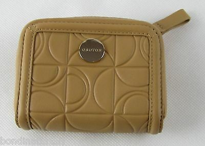 AU69.99 • Buy New Oroton Outline Natural Light Brown Leather Zip Around Coin Purse  Rrp$195