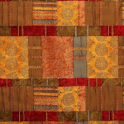 £27.99 • Buy Moroccan Patchwork Tapestry Terracotta Cushion Sofa Upholstery Fabric