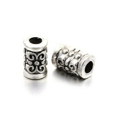 £2.89 • Buy Antique Silver Tibetan Zinc Beads Tube Spacer 5 X 7mm Pack Of 30