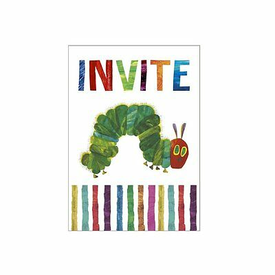 The Very Hungry Caterpillar Birthday Party Invitations X 8 With Envelopes  • 3.25£