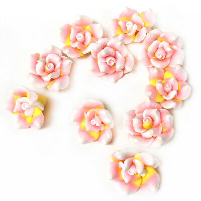 £3.39 • Buy Mixed-Colour Polymer Clay Beads Flower 9 X 20mm Pack Of 10