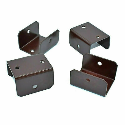 £14.99 • Buy PACK OF 20 - 46mm (1.80 ) BROWN FENCE & TRELLIS POST CLIPS BRACKET PANEL FIXING
